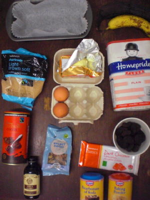 banana and chocolate cake ingredients