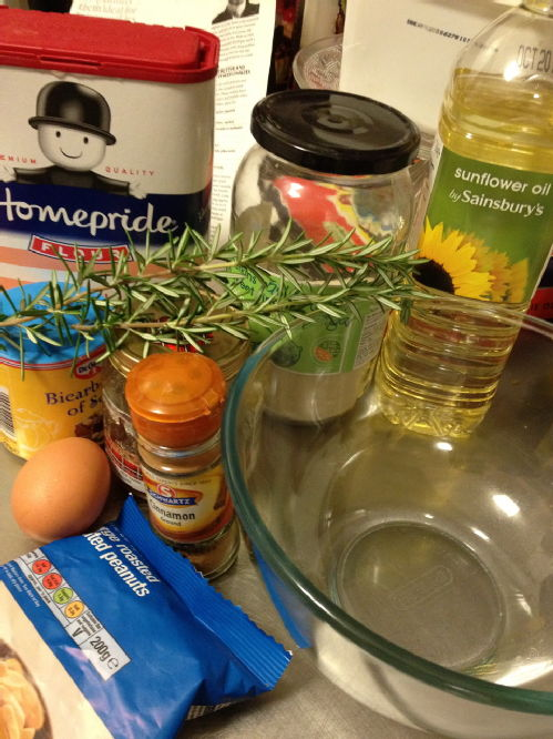 peanut and rosemary cookie ingredients