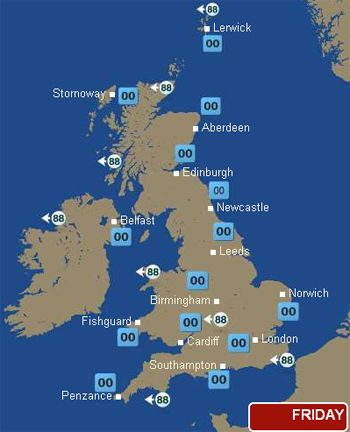 BBC weather snapshot