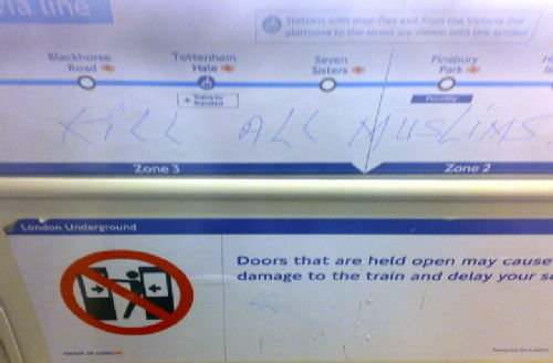 Islamophobia on the tube