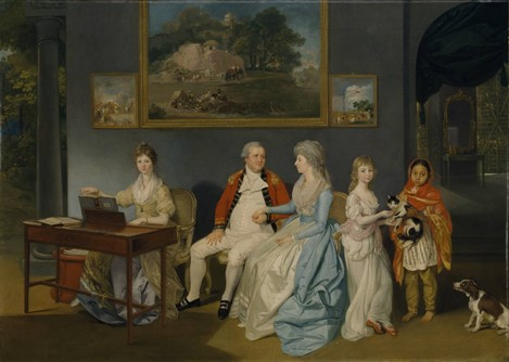 Zoffany, Colonel Blair with his Family and an Indian Ayah