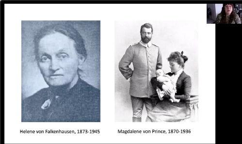 Photographs of Helene von Falkenhausen and Magdelene von Prince
