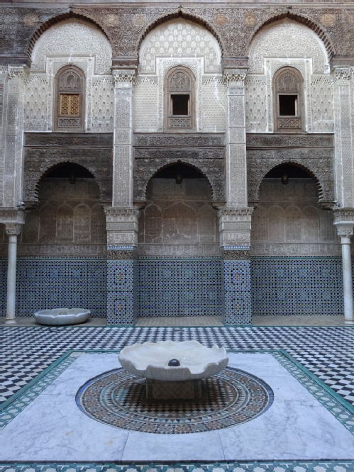 An old madrasah or religious school in Fez