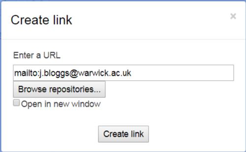 Add mailto link