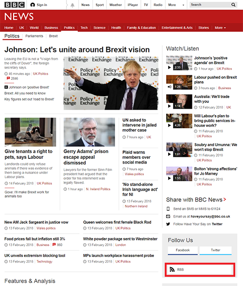 BBC Politics website