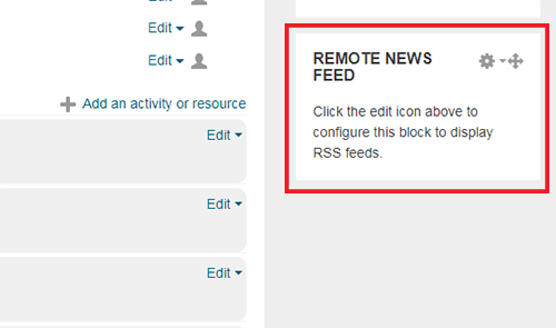 Empty RSS feed block
