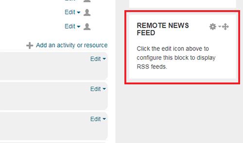 Empty RSS feed block