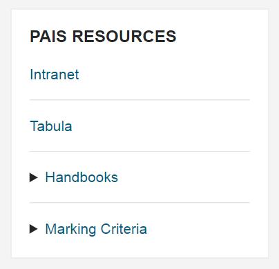 PAIS resources block