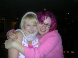 Me, Amy and my scarf!