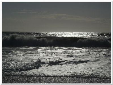 Waves on the beach, New Milton, Feb 2006