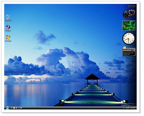 Windows Vista wallpaperWindows Vista Default Desktop