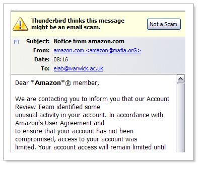 Amazon email scam