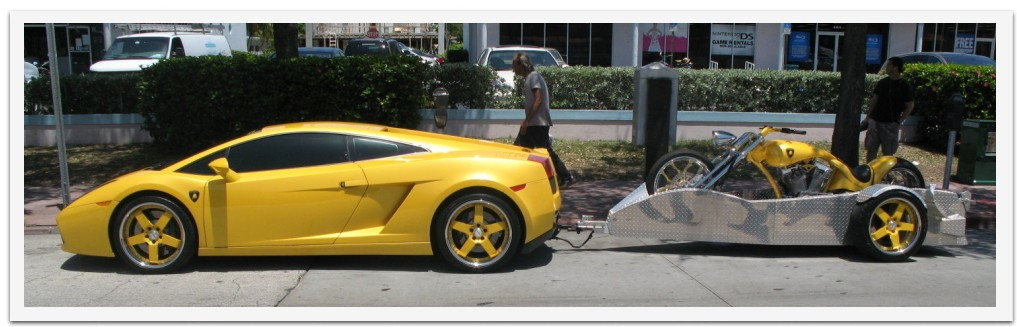 Lamborghini Gallardo with trailer