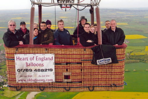 Balloon ride over Warwickshire and Worcestershire