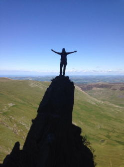 """On top of the world"" - Rock climbing North Wales, Ampitheatre Butress"