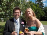 best man and i....drinks in each hand
