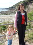 Mummy and Emily at Talland Bay