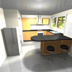 Possible kitchen design - view 1