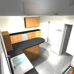 Possible kitchen design - view 2