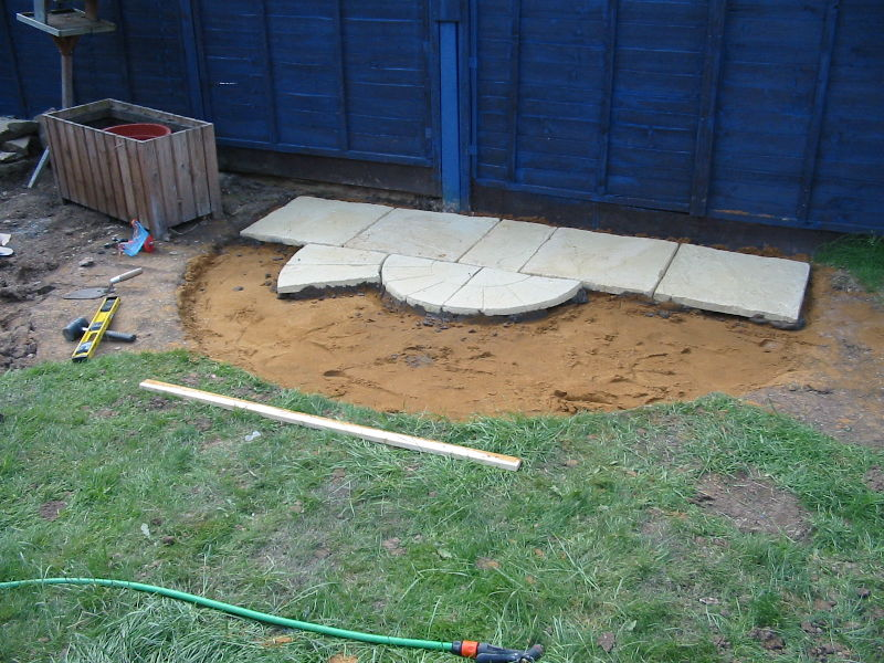 34: Laying Patio