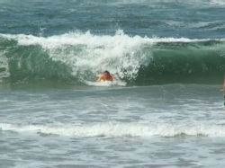 Richard body boarding