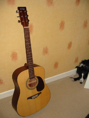 My new guitar (and Maggie)