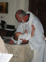 Louis getting Christened