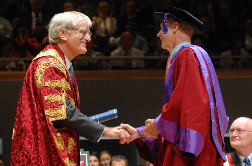 University of Warwick Chancellor Sir Richard Lambert and Honorary Graduate Pascal Lamy Graduation 2009