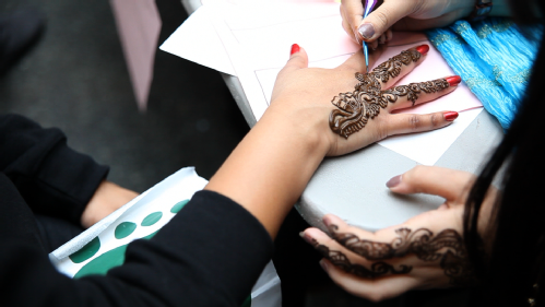 Henna tattoo at One World Week 2013 University of Warwick students union