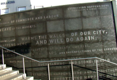 Image of a monument at the Birmingham Bullring, United Kingdom.