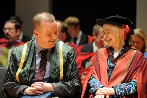 Photograph: Ken Sloan, University of Warwick, with Roberta Warman