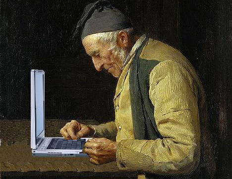 Illustration: The village blogger: an edited version of Albert Anker