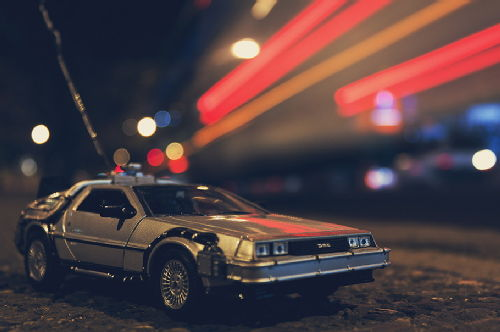 Image. Delorean - the Back to the future car/time machine.