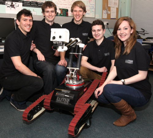 Image. WMG Robotics - students at the University of Warwick