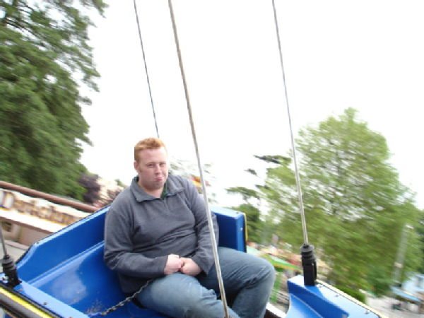 Awww... Andy on his tod in the Pirate Boats