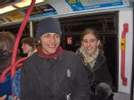 Benny and Suzi on bus
