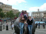 Cat, Jen, Me and Claire, Trafalgar Square