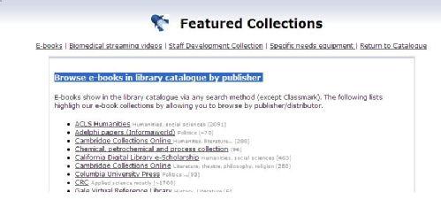 E book list