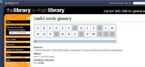 Glossary grab