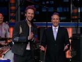 Coldplay and John Stewart