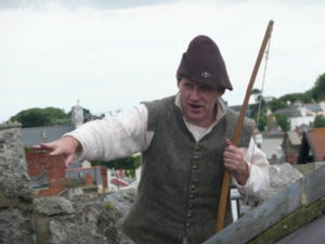 Guide at Dalkey Castle