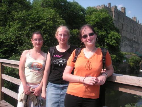 Georgia, Stéph et Lennie château de Warwick