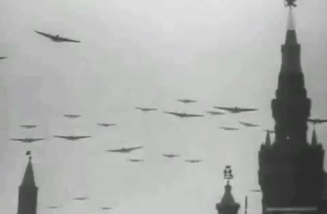 TB-3s over Red Square 7 November 1936
