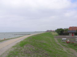 Road past the IJsselmeer