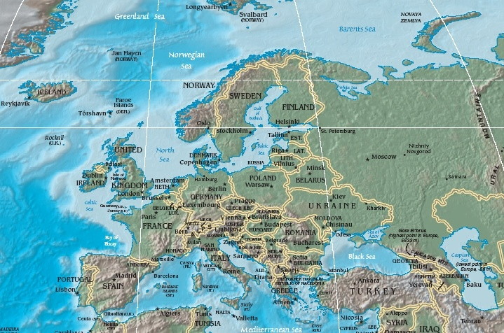 European Cities Scribbles of a DutchPolishman – Travel Map Of Europe With Cities
