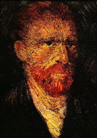 Van Gogh, self portrait (1886)