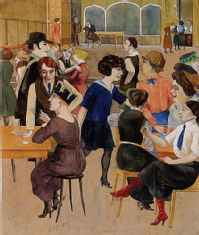 Rudolf Schichter depicting cafe society