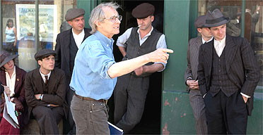 Ken Loach on the Set of wind that Shakes the Barley