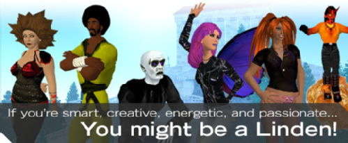 Recruitment Banner for Second Life Virtual Environments