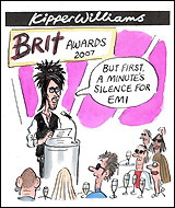 Brit Awards and EMI Cartoon